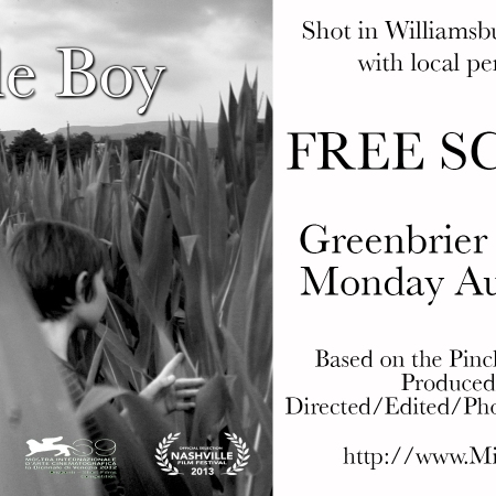 Miracle Boy in Lewisburg Aug 27 at 7 pm